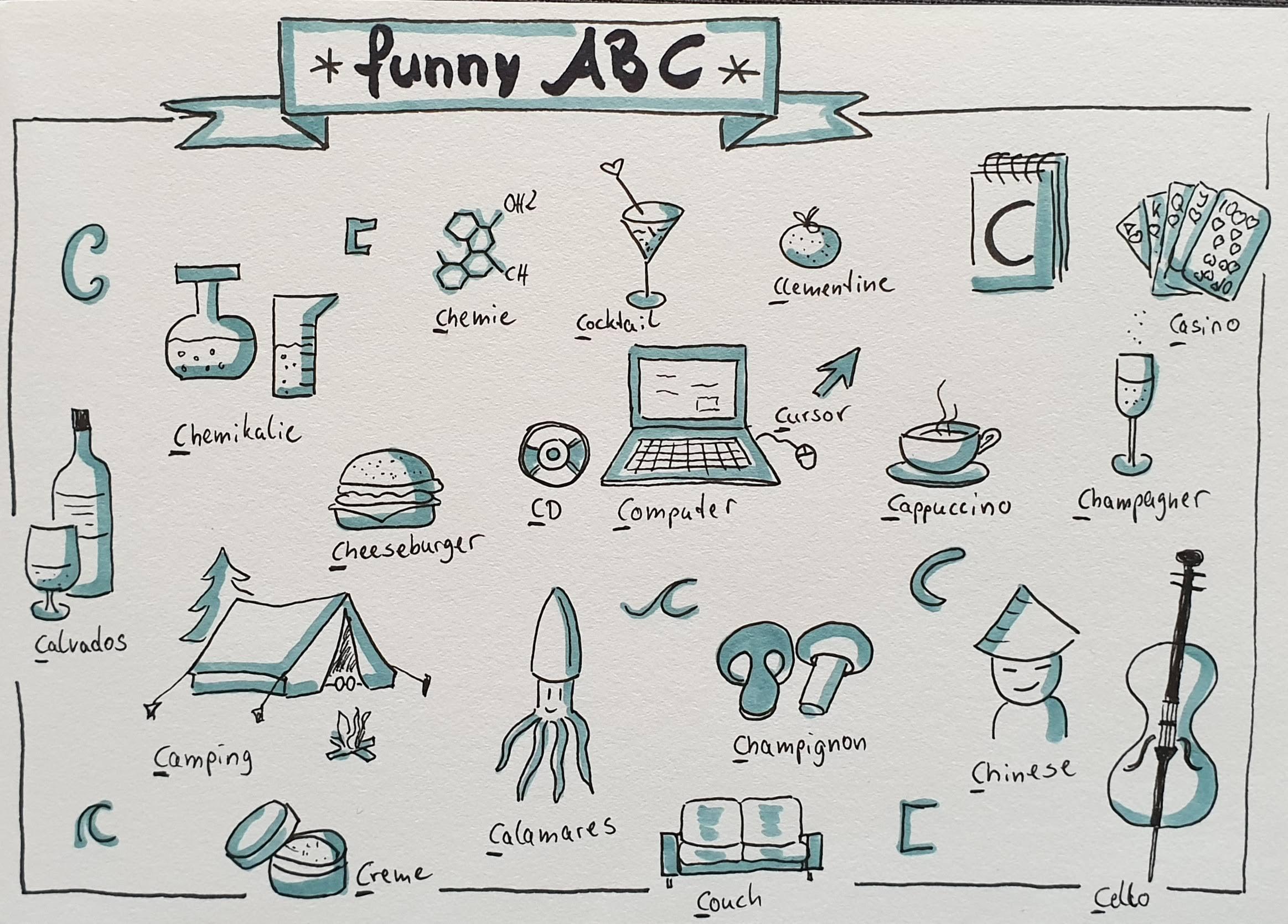 Sketchnotes Funny ABC - C